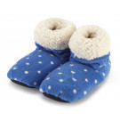 Microwave foot warmers - Intelex Polka Dot Bluee boots