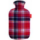 Fashy Hot Water Bottle Tartan Cover