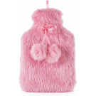 Slumberzzz Lush Plush with Pom Pom Hot Water Bottle - 2 Litre Pink