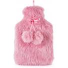Amazing Health Cute Seasonal Winter Novelty Hot Water Bottles (Pink Fur)