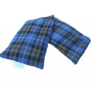unscented wheat bag blue tartan cotton