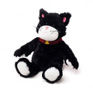 warmies cozy plush black & white cat