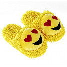 Aroma Home Shoes Women's Fuzzy Open Back Slippers, Yellow