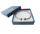Copper Bracelet in Torque for men  - Large