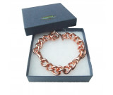 Amazing Health magnetic and Copper Chain bracelet fitted with rare earth magnets - Large