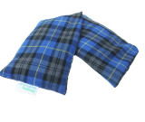 Unscented Microwave wheat bag - Blue tartan cotton