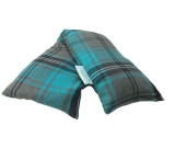 Unscented Heat Pack Cotton Turquoise Tartan Microwave Wheat Bag 48cm