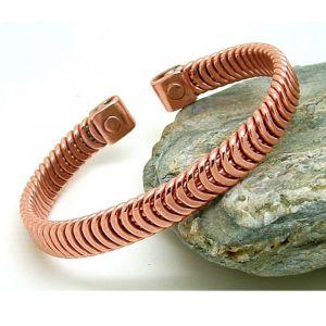 copper bracelet is herringbone design for men
