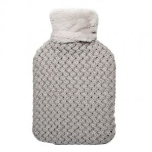 Murrays Cross Knit Hot Water Bottle And Cover