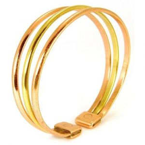 Ladies Copper and Brass Magnetic therapy Stylish bracelet