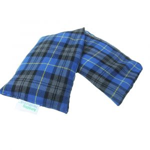 unscented wheat bag blue tartan cotton