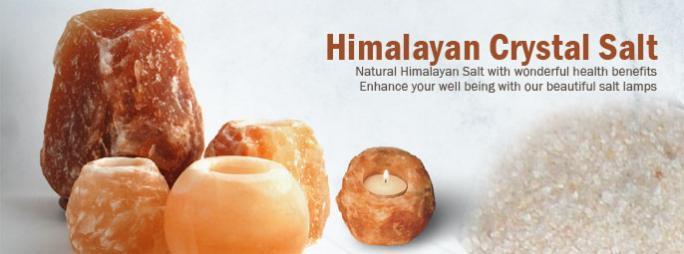 Himalayan crystal salt, salt lamps