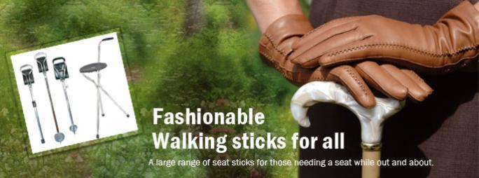 Fashionable walking sticks, seat sticks, shooting sticks
